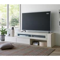 配線すっきり伸長式テレビ台シリーズ 右テレビ台タイプ 幅145~210cm