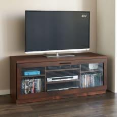 いろいろ収納できる棚板いっぱいテレビボード 幅120cm