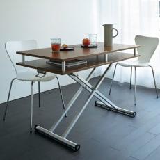 棚付き昇降式テーブル 幅102(天板90)cm