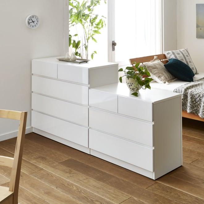 レイアウト自在な間仕切りチェスト 3段(高さ63cm)・幅80cm 開放感はそのままに、部屋を効率的に間仕切りできます。