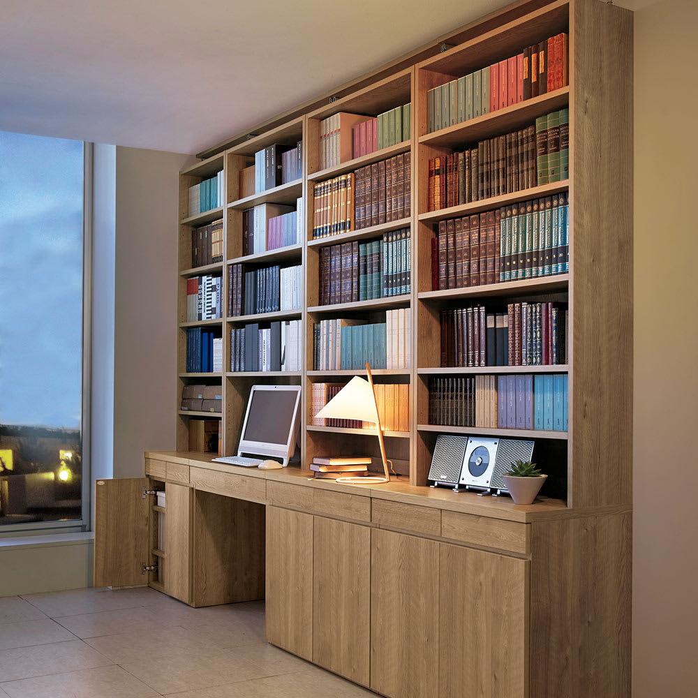 ホームライブラリーシリーズ デスク 幅80cm 突っ張りタイプのコーディネート