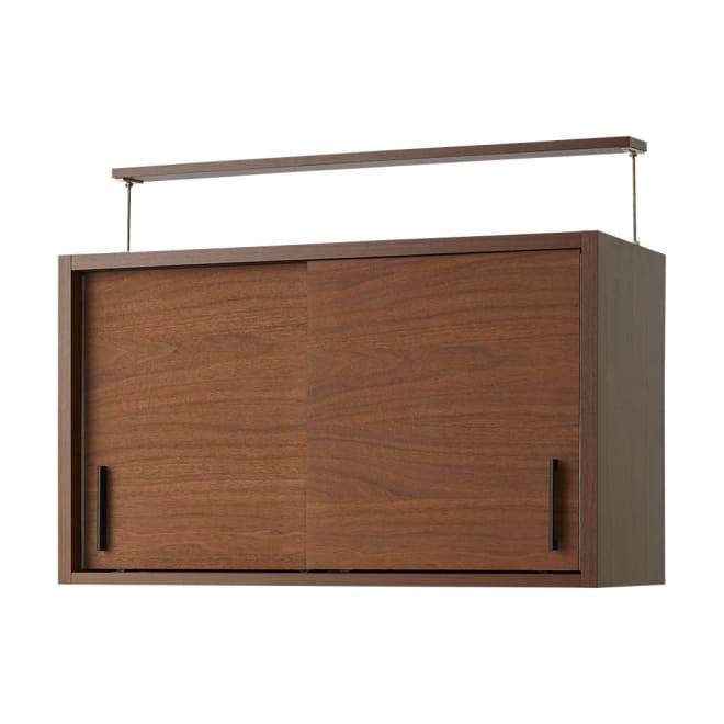 ウォルナット天然木引き戸本棚 上置き 幅90.5cm 書斎をおしゃれに演出する、ウォルナット突板の本棚です。■収納部内寸:幅41.5奥行29.5高さ48.5cm(左右同じ内寸です)