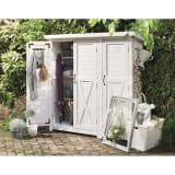 3つ扉シンプル木製収納庫 写真