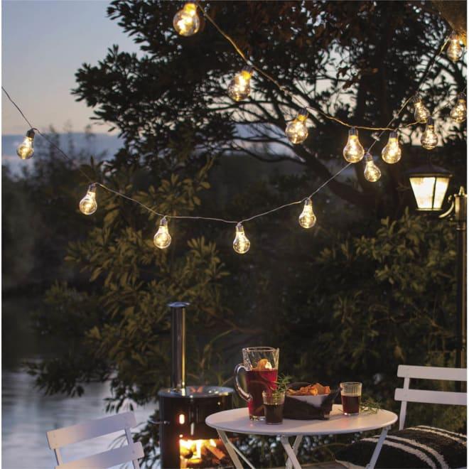 電池式LEDパーティーライト 10灯