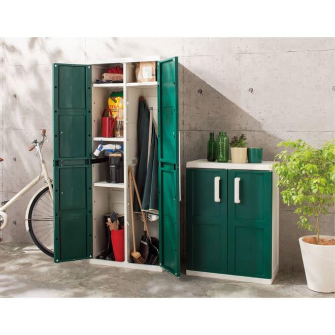 イタリア製収納キャビネット ハイ ※お届けは写真左のハイタイプです。