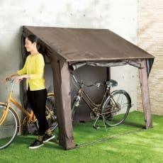 出し入れしやすいフルカバー自転車ガレージ