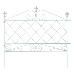 スリム&ローアイアンフェンス ロー8枚組 (イ)ホワイト 連結しやすいひっかけ部分付き。