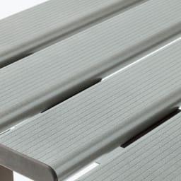 アルミ縁台 幅180cm サビに強く耐久性の高いアルミ製。