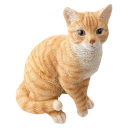 ネコのオーナメント 座りネコ (ア)茶トラ
