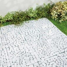 雑草が生えない天然石マットホワイト