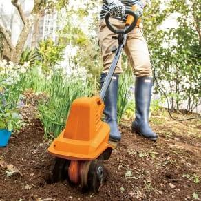 家庭菜園におすすめ!コンパクト耕耘機 写真