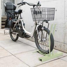 頑丈自転車スタンド セージグリーン色 電動自転車用カバー付き
