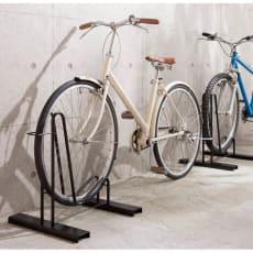 頑丈自転車スタンド 1台用【ブラック】 ラージカバー付き