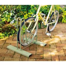 頑丈自転車スタンド 1台用【セージグリーン】 ラージカバー付き