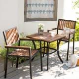 コンパクト人工木テーブル&チェア 3点セット 写真