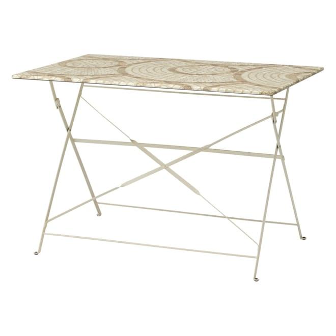 モザイク調折りたたみテーブル テーブル単品 お届けはテーブル単品です。