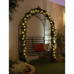 植栽になじむ!屋内外で使えるLEDクラスターライト シャンパンゴールド
