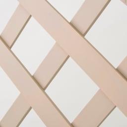 アンティーク風ラティスフェンス2枚組 ロー2枚組 ナチュラル派にうれしいグレージュ色の木製フェンスです。