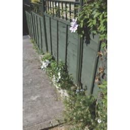 欧風トレリス付きプランターボックス〈セージグリーン〉 高さ100cm 英国では、セージグリーンは建物や家具によく使われています。