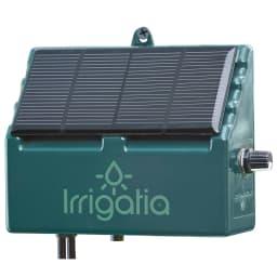 英国企画ソーラー自動灌水機 スタンドセット ソーラー充電式。ダイヤルで水量調節可能。