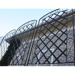アイアンラティス柄フェンス 高さ216cm 4枚組