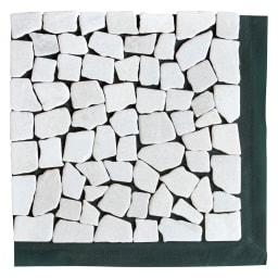 雑草が生えない天然石マットホワイト 12枚 表面