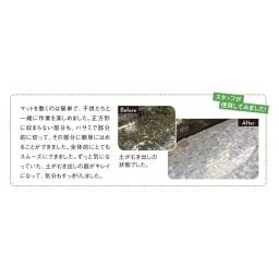 雑草が生えない天然石マットホワイト 12枚