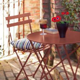 フランス製ビストロテーブル&チェア ビストロチェア2脚組 レッドオーカー 新色