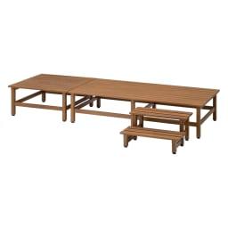 木目調アルミデッキ縁台&ステップ お得なセット 0.75坪セット (イ)ブラウン 0.75坪セット(デッキ180×90cm+デッキ90×90cm+踏み台ステップ) お届けの商品です。