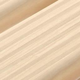 木目調アルミデッキ縁台&ステップ 単品 デッキ縁台180×36cm (ア)アイボリー