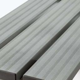 アルミデッキ縁台 幅180cm シルバー サビに強く耐久性の高いアルミ製。