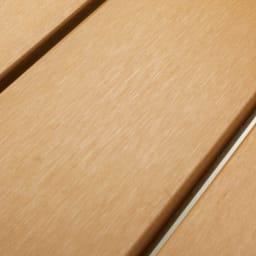 ファーストクラスファニチャー 正方形3点セット 木粉と樹脂を混ぜた、朽ちにくい人工木。