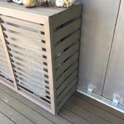 【逆ルーバー】人工木室外機カバー レギュラー
