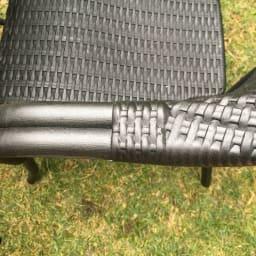 グリーンモザイクテーブル&チェア トルコ製ウィッカー調チェア2脚組