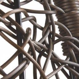 ハンギングチェア ゆったりタイプ素材アップ。ニュアンスのある編み込み素材。