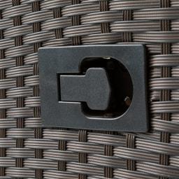 ラタン調リクライニング3点セット レバー操作で簡単リクライニング。