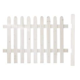 直線延長セット(ピケットフェンスシリーズ 直線土用) (ア)ホワイトウォッシュ お届けの商品です。別売りの基本セットと合わせてご使用ください。