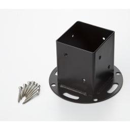 ピケットフェンス基本セット U字平地用 ポールには平地固定用金具が付属しています。