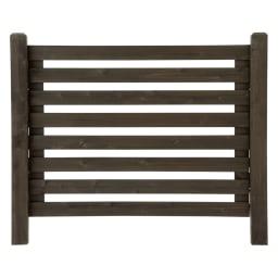 木製ボーダーフェンス フェンス飾り棚セット(フェンス+飾り棚2個組) (イ)ダークブラウン