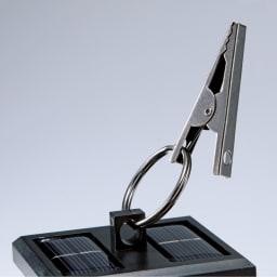 シルエットムーミンシリーズ ソーラーライト ハサミ&リングで枝やフックに掛けても。