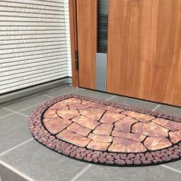 ドイツ製玄関&階段マット 玄関マット (ア)ブラウン
