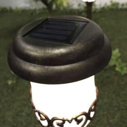 アンティーク風ソーラーライト 2本組 ※商品色は他写真を参照ください。