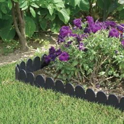 根止め&花壇づくり土ストッパー 12m コーナー※お届けの商品は上部にオーナメント模様が入ります。他写真参照ください。