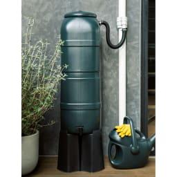 英国Strata社製雨水貯水タンク 容量100L お庭やベランダの植栽に馴染むカラーとデザイン