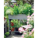 ハーブ用菜園プランター ベジトラグ 薄型(4コマ) 写真