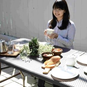 折りたたみ作業台シリーズ テーブル ラタン調 写真