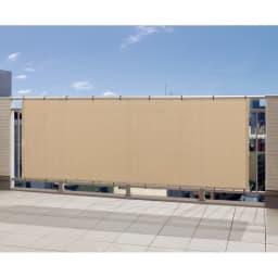 サマーオーニングバルコニータープ 100×180cm (ウ)グレイッシュベージュ UVカット率…約89.9% 視線が気になる窓辺やバルコニーに。おしゃれにプライバシー対策ができます。付属のバンドで取り付けるだけと手軽さも魅力です。