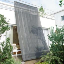 サマーオーニング タープ 約200×400cm (エ)チャコールグレー UVカット率…約91.7%