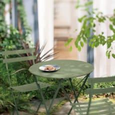フランス製ビストロテーブル&チェア ビストロテーブル 写真