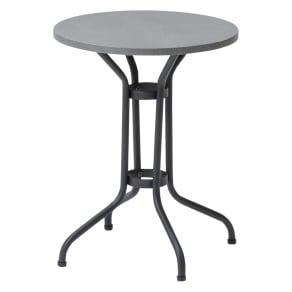 ロープチェアオットマンセット&サイドテーブル セメントサイドテーブル 写真